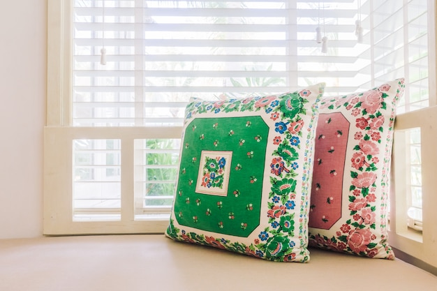 Beautiful luxury pillow on sofa