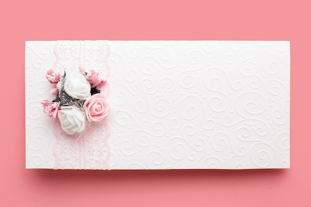 Beautiful luxury wedding stationery and ribbon