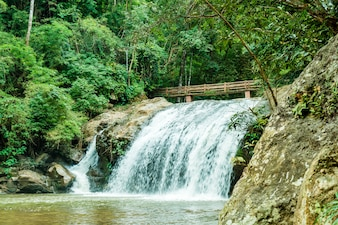 Beautiful Mae Sa waterfall at Chiang Mai ,Thailand