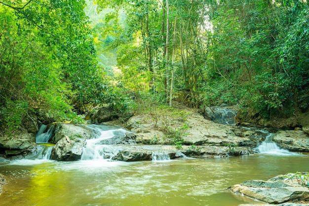 Beautiful mae sa waterfall in chiang mai, thailand