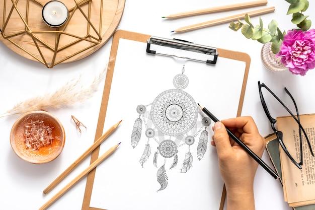 Bellissimo concetto di design mandala