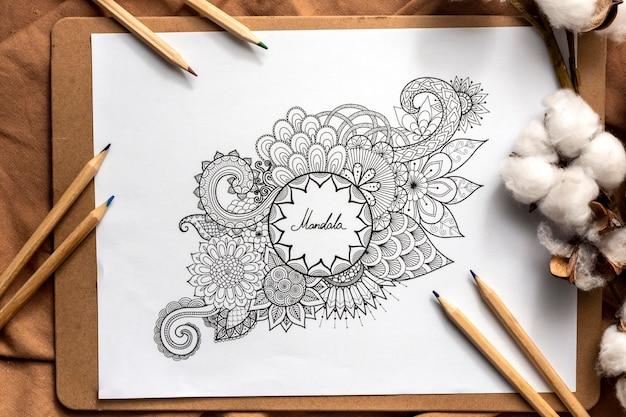 Концепция дизайна красивая мандала