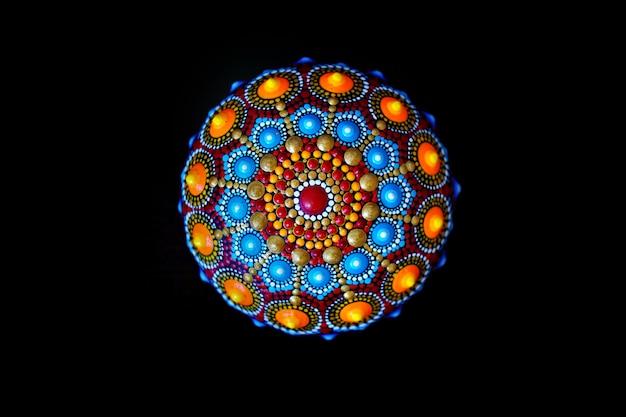 Beautiful mandala rock