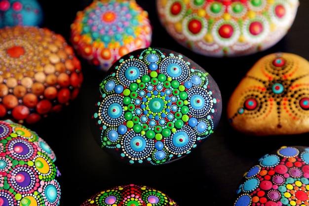 Beautiful mandala rocks