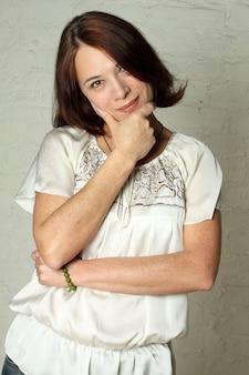 Beautiful mature middle aged woman