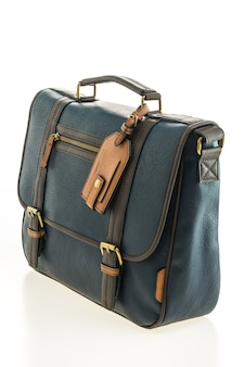 Beautiful men fashion with leather messenger bag