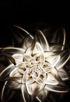 Красивый металлический цветок лилии на темном фоне