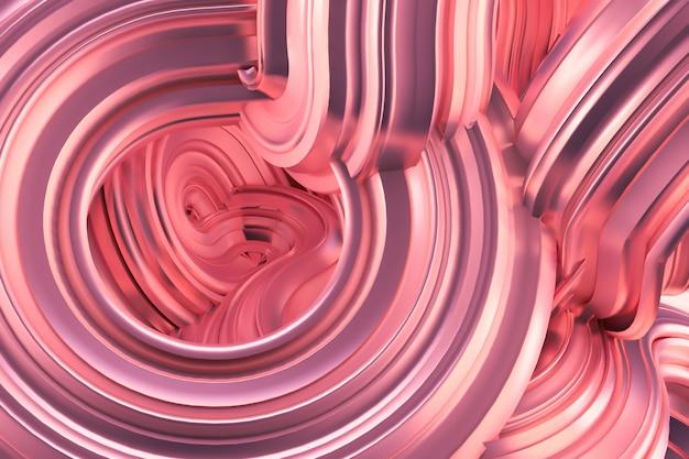 Beautiful metallic pink background. 3d rendering.