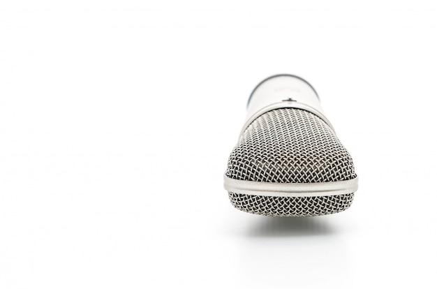 Beautiful microphone on white