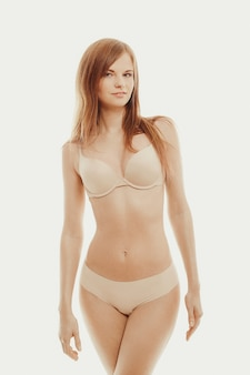Beautiful model posing in underwear