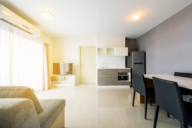 Beautiful modern apartment interior , contemporary living room