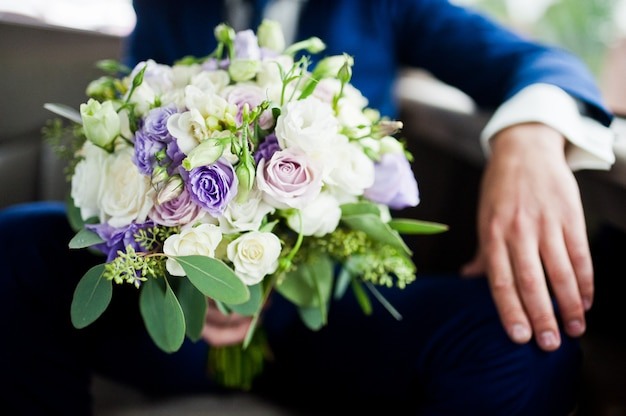 Beautiful modern and elegance wedding bouquet.