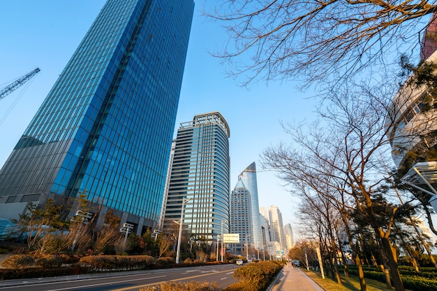 The beautiful modern urban architectural landscape of qingdao