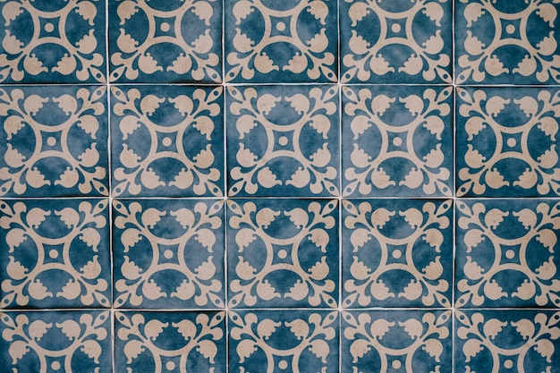Beautiful moroccan tiles wall for background