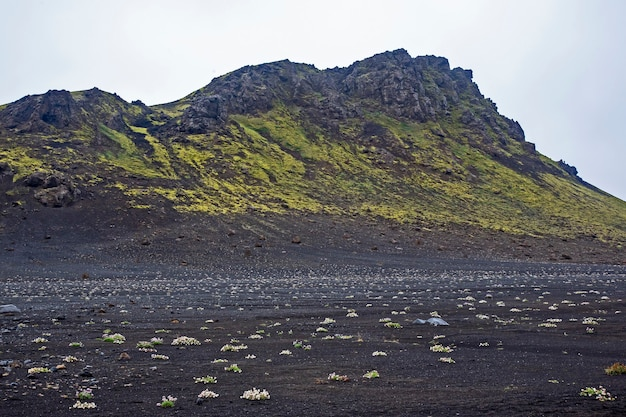 아이슬란드의 아름다운 산 풍경