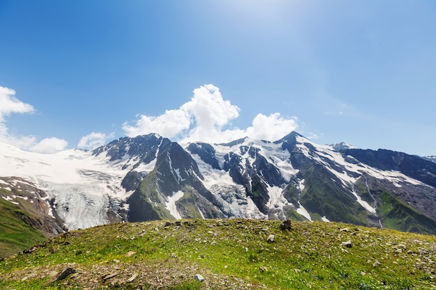 Beautiful mountain landscape of svaneti, georgia.