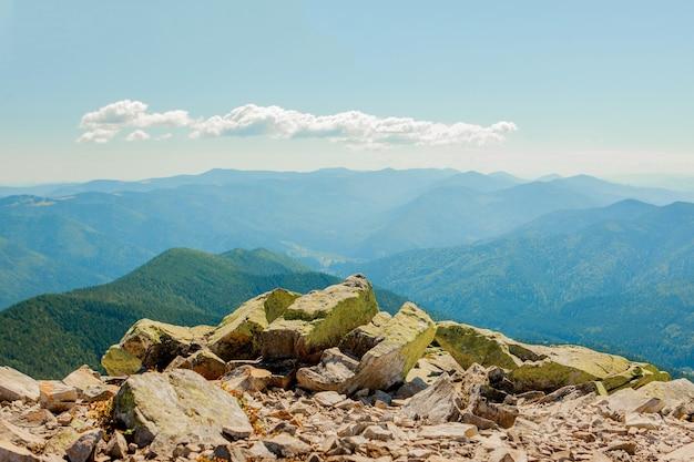 우크라이나 carpathians와 아름다운 산 풍경.