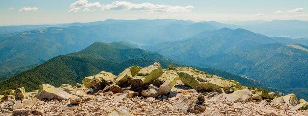 Beautiful mountain landscapes with the ukrainian carpathians