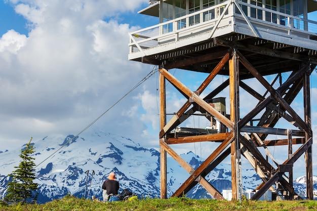 米国ワシントン州ノースカスケード山脈の美しい山頂