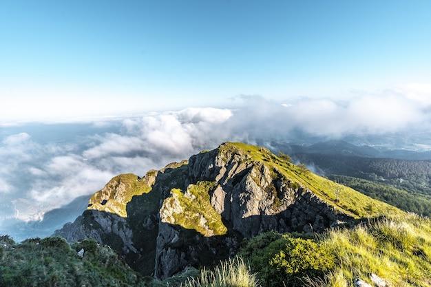 Beautiful mountain penas de aya in the town of oiartzun, gipuzkoa, spain