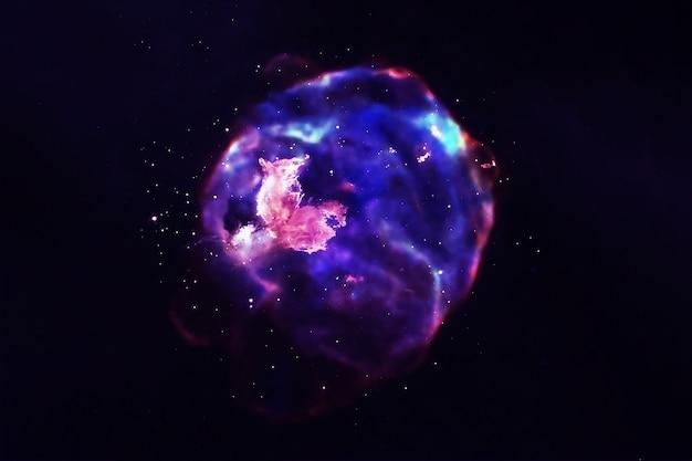 美しい色とりどりの銀河。この画像の要素はnasaによって提供されました。高品質の写真