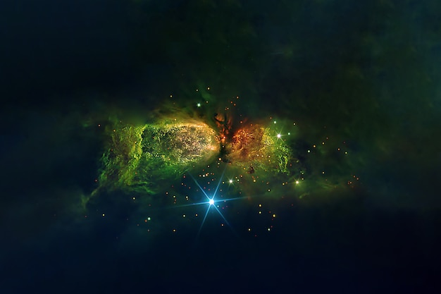 Beautiful multicolored galaxy. elements of this image were furnished by nasa. high quality photo