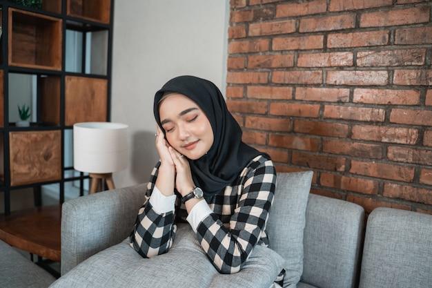 Beautiful muslim woman posing