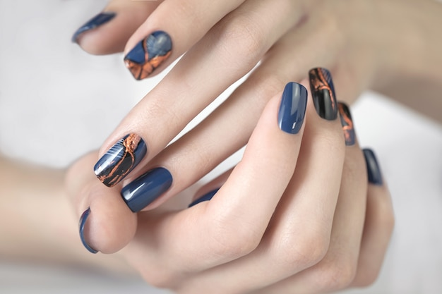 Beautiful nail art manicure.