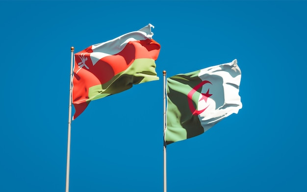 Beautiful national flags against the sky
