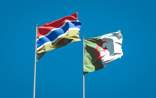 하늘을 배경으로 아름다운 국기
