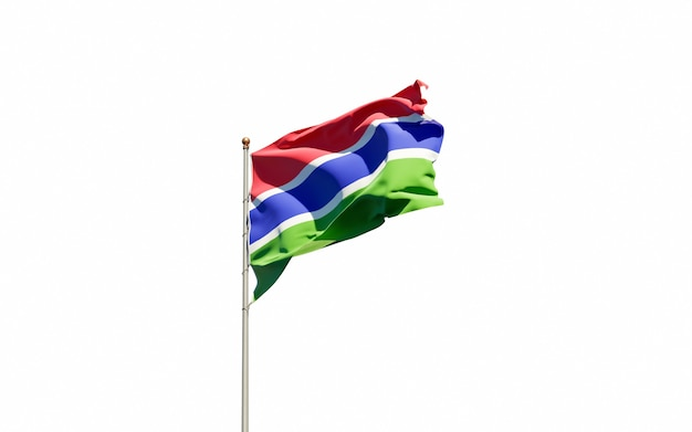 Beautiful national state flag of gambia