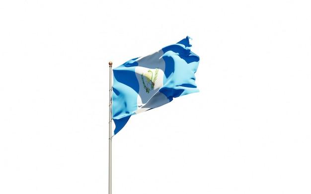 Beautiful national state flag of guatemala