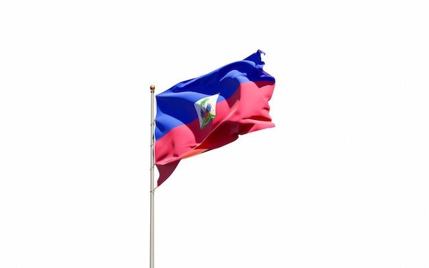 Beautiful national state flag of haiti