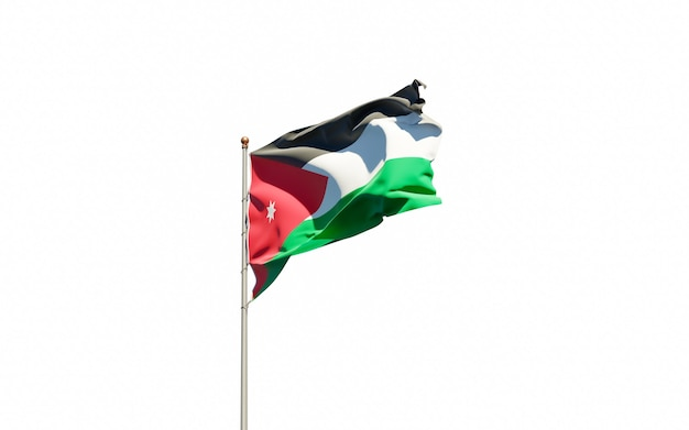 Beautiful national state flag of jordan