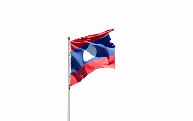 Beautiful national state flag of laos