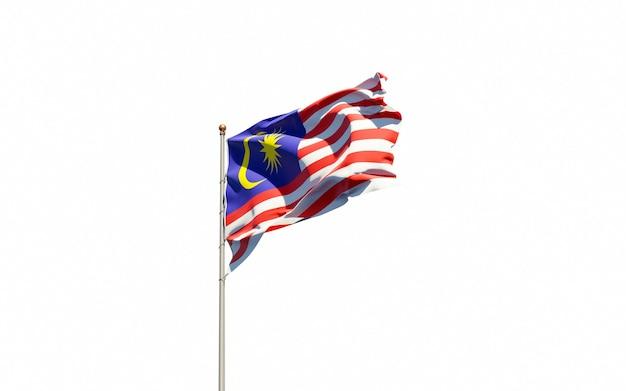 Beautiful national state flag of malaysia