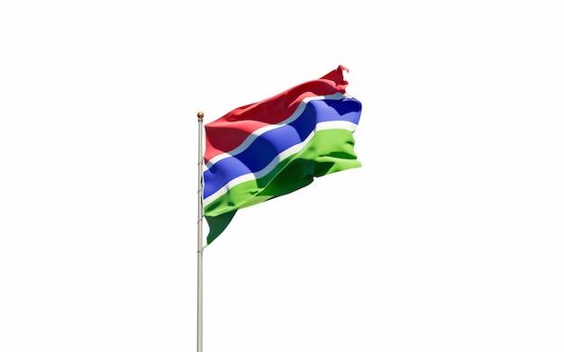 감비아의 아름다운 국기
