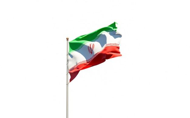 Красивый национальный государственный флаг ирана
