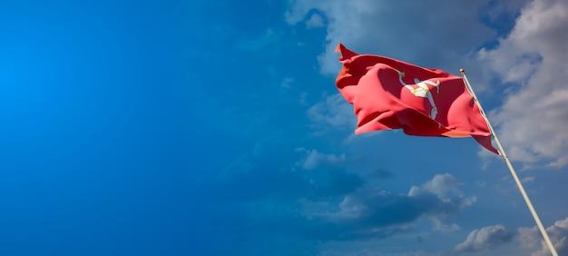 Красивый национальный государственный флаг острова манн с пустым пространством на широком фоне
