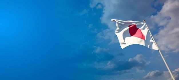 広い背景に空白のある日本の美しい国民国家の旗