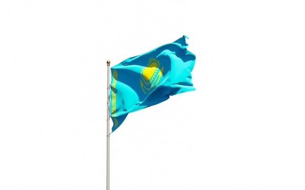 Красивый национальный государственный флаг казахстана