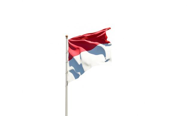 モナコの美しい国民国家の旗