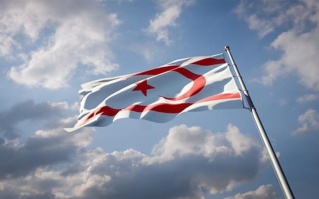 北キプロスの美しい国民国家の旗がはためく