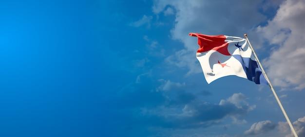 푸른 하늘에 파나마의 아름다운 국가 국가 깃발