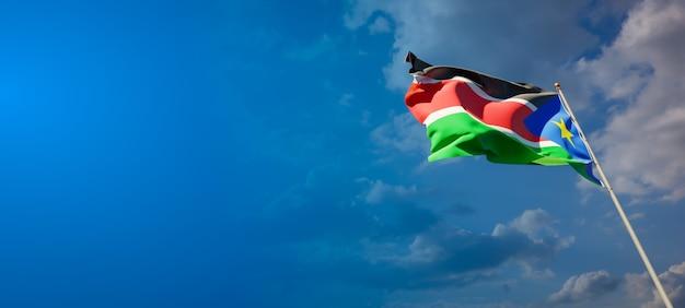 Красивый национальный государственный флаг южного судана