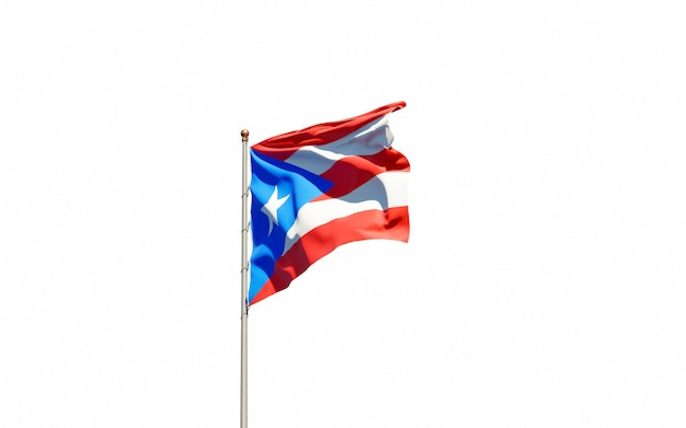 Beautiful national state flag of puerto rico
