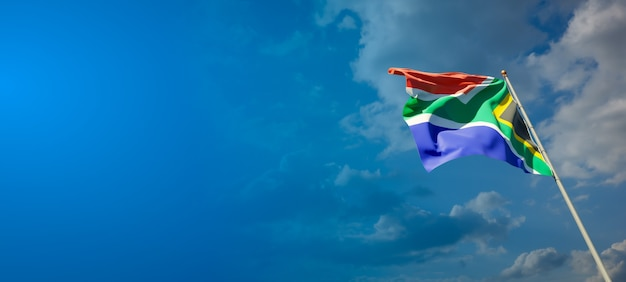 Beautiful national state flag of south africa