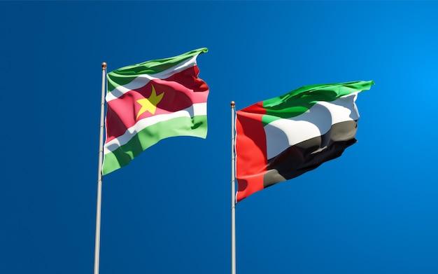 Красивые национальные государственные флаги на фоне неба