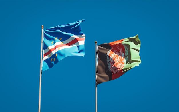 Красивые национальные государственные флаги афганистана и кабо-верде