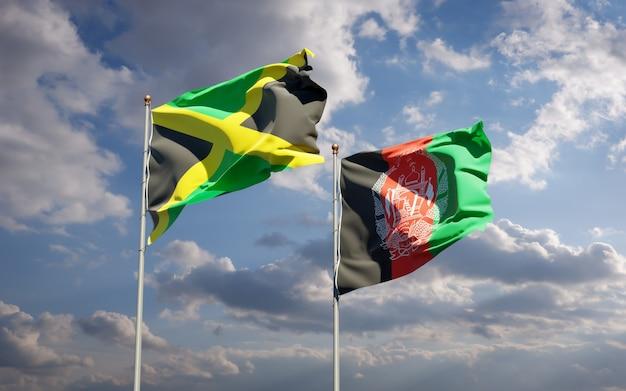 アフガニスタンとジャマイカの美しい国の旗